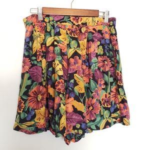 Pants - 4/$25 vintage highwaist shorts fall floral pattern
